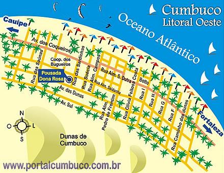 Cumbuco - Pousada Casa Dona Rosa em Cumbuco - Ceará - Brasil